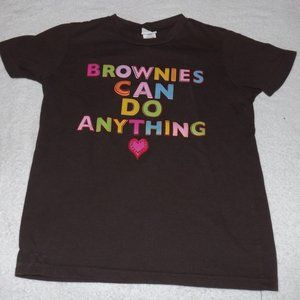 Girl scout brownies can do anything shirt  M 10
